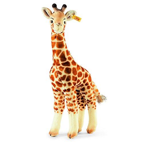 Steiff 068041 - Bendy Giraffe - stehend, Plüschtier, 45 cm, beige/braun
