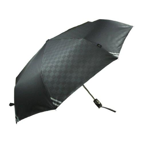 男性用日傘 晴雨兼用傘 折りたたみ式 自動  UVカット ブラック 61㎝ 360g T021-1