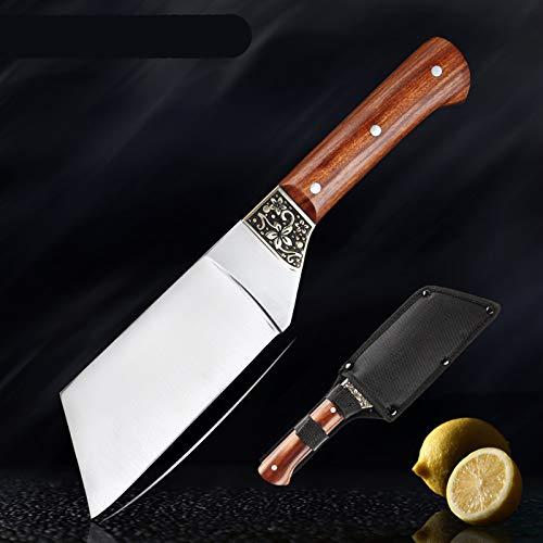 440C Acero inoxidable Premium Chef Cuchillo Cuchillo Durian Cuchillo Cuchillo de la carne de la carne de la carne con la herramienta de cocción del mango de palisandro juego de cuchillos de cuchillo