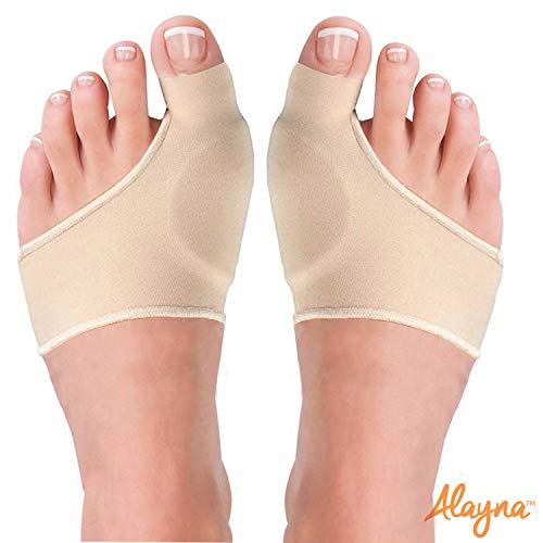 Bunion Corrector and Pain Relief Cushion Sleeve Orthopedic Splint Gel Protector with Non-Slip Grip Insert for Men/Women - Hallux Valgus Realignment Large (2 PCS)