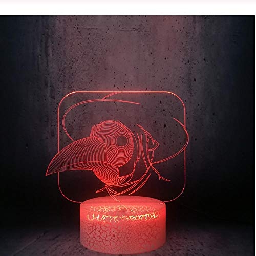 Abstract Picture Toucan Head With Hat In Night Light Kids Room Decoration Kids Birthday Gift
