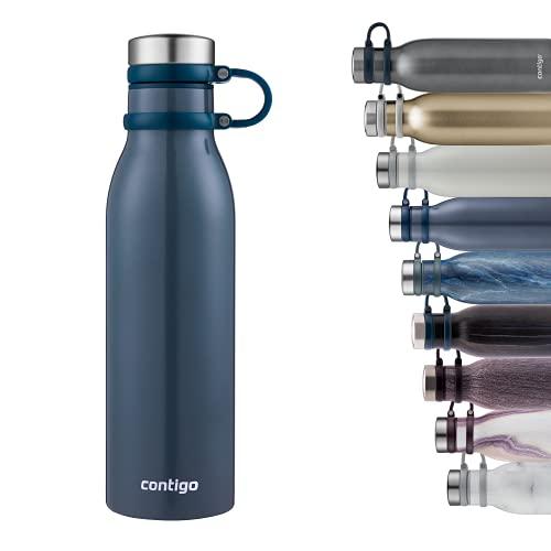 Contigo Matterhorn Trinkflasche, Edelstahl-Isolierflasche mit Thermalock-Isolierung, hält bis zu 24h kalt oder 10h heiß, BPA-freie Thermosflasche mit Schraubverschluss, 100% auslaufsicher, 590 ml