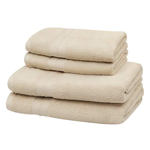 SOHYGGE – Juego de toallas de baño (4 piezas), 100 % algodón 500 g/m2, ecológico, sin productos químicos OEKO-TEX – 2...