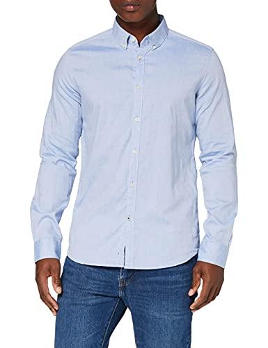 TOM TAILOR Herren 1008320 Freizeithemd, Blau (Light Blue Oxford 15837), M