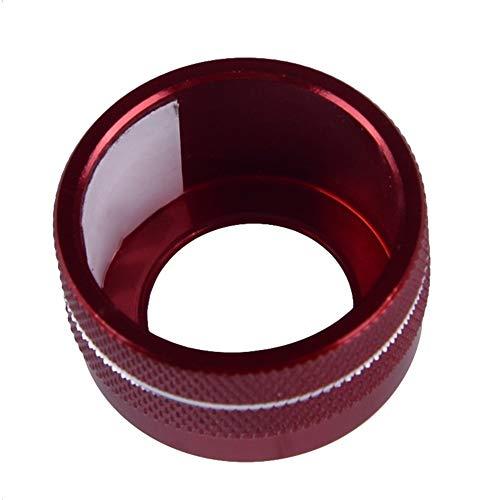 ESUHUANG Interruptor de la Puerta Espejo retrovisor de Ajuste del Control de aleación de Aluminio Rojo del Coche del Anillo del círculo del Ajuste for los Toyota Corolla 2020 Piezas de automóviles al