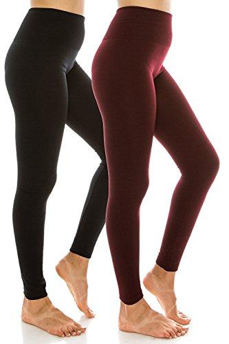 Sofra Ladies High Waist Fleece Leggings Regular & Plus