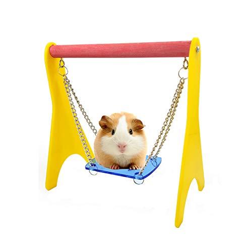 ppactvo Juguetes Hamster Bola Hamster Colorido Hamaca Columpio Juguetes para Animales PequeñOs Actividad Juguete Aburrimiento DIY Jaula Accesorios para Mascotas PequeñAs