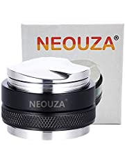 NEOUZA 53mm Coffee Distributor & Tamper 2 in 1, Dual Head Coffee Leveler Fits for 54mm Breville Portafilter, Adjustable Depth- Professional Espresso Hand Tampers