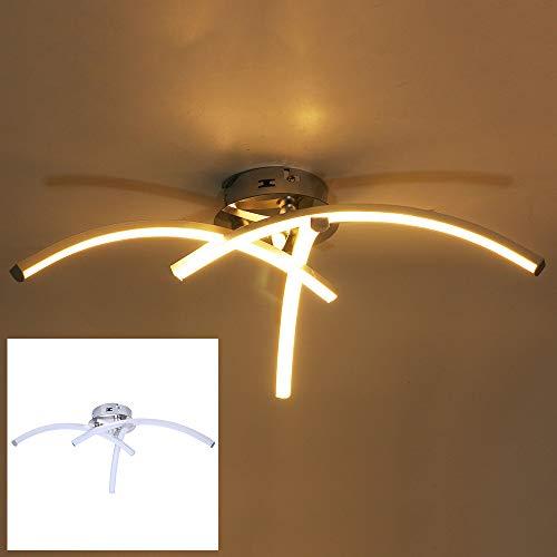 Techo Del LED De Luz Blanca De 3000K Caliente, Diseño Moderno Lámpara De Techo, Lámpara De Pared LED 18W, LED Viviendo Lámpara De Habitación, Cromo Níquel Mate Y Del Punto Del Techo Radiador