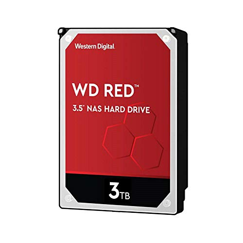 Western Digital WD Red 3 TB NAS hard disk interno 3.5', 5400 RPM Class, SATA 6 Gb/s, CMR, 64 MB Cache, WD30EFAX
