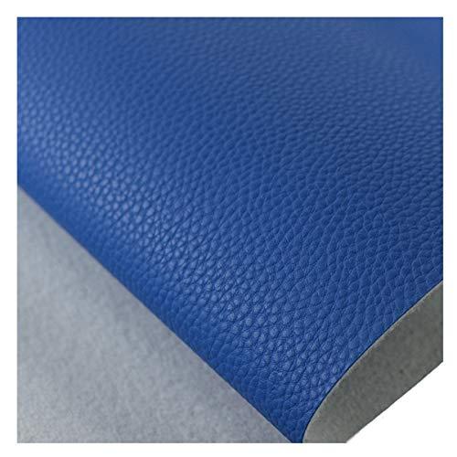 NIANTONG Tela de Imitación de Cuero Impermeable 138x100cm Hojas De Cuero Sintético de La PU para La Tapicería, La Costura de Bricolaje, Sofá Silla de Mobiliario Suave(Color:Royal Blue 29)