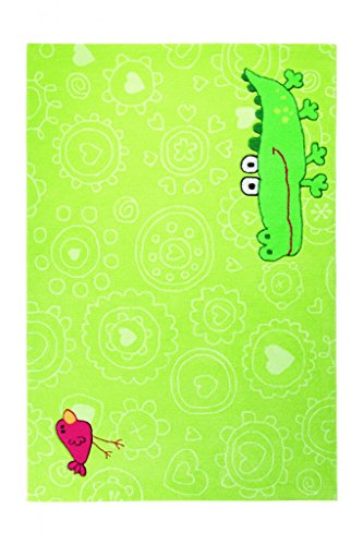 Sigikid Kinderteppich Happy Zoo Crocodile | grün | 70 x 140 cm