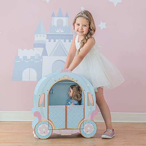 Olivia's Little World - Toy - 18 inch Doll Princess Pumpkin Carriage with Closet and Dress | Doll Closets | Doll Accessories