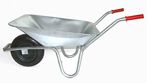 Gartenschubkarre aus verzinktem Metall von Szagato