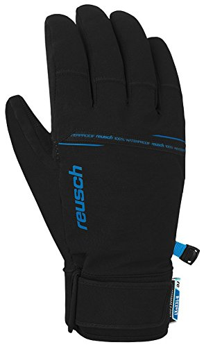 Reusch Herren Logan R-TEX Handschuhe, Black/Brilliant Blue, 11