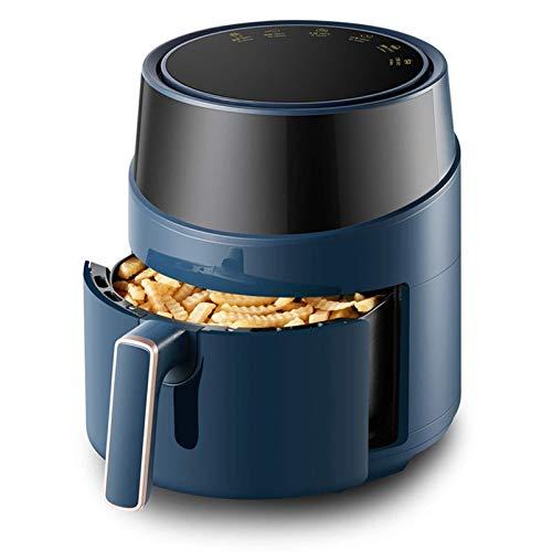 Freidora de aire WYCGD Freidora deaire sin aceite, horno freidora de chips de 4.6L / 1500W con pantalla digital, precalentamiento, recordatorio de batido, 6 ajustes preestable