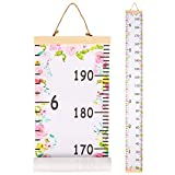 FIOBEE Baby Growth Chart Kids Height Chart, Wall Ruler Measure Chart for Child Removable Wall Hanging Measurement Chart Room Decoration for Girls, Boys, Toddlers