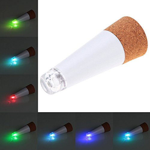 LOBKIN Weinflasche Lichter Cork geformte, Brightest Weinkorken USB-Licht auf dem Markt - 12 Lumen für Party Night Club Weihnachten Schlafzimmer Akku/Stromversorgung über USB (3pcs MEHRFARBIG)