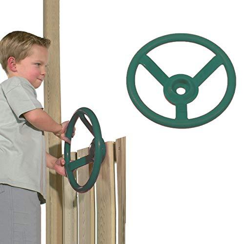 ROCK1ON 30 CM Volante de Barco de Plastico Rueda de Barco Timón Juguete para Niños Accesorios para Columpios de Jardín Parques Infantiles,Verde