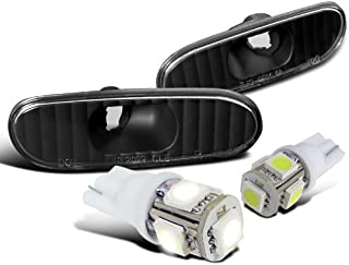 For Toyota Celica MR2 Spyder Black Bumper Side Marker Lights+T10 SMD LED Bulbs