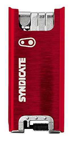 Crank Brothers CRANKBROTHERS Unisex F15 Syndicate Multitool, rot