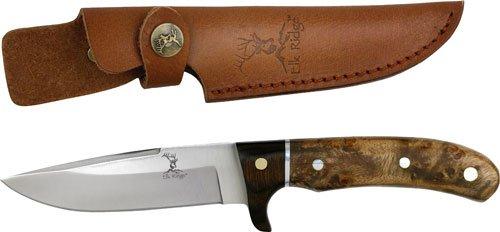 "ER-065 Elk Ridge Fixed Blade Knife - q92a35650 Burl Wood Handle ""9"""""" i646xbqkp373 Overall fix knife steel sharp edge blade pocket"