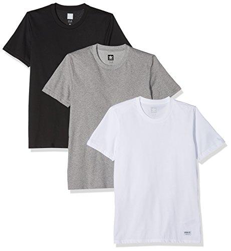 adidas Herren T-Shirt 3 Pack T-Shirt, Corhtr/White/Black, XS, CW2344