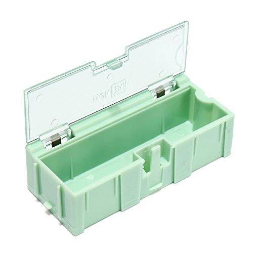 Alamor 10pcs SMT SMD kit Composants de Puce de Laboratoire vis Outil boîte de Rangement Cas en Plastique Vert