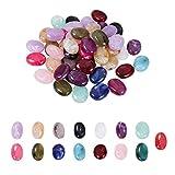 PandaHall Elite - 150 cuentas ovaladas de imitación de piedras preciosas espaciadoras de 15 colores, cuentas de acrílico sueltas para collares, pendientes, pulseras y colgantes para hacer joyas