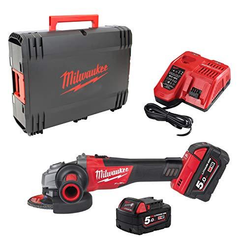 Milwaukee 4933448866 Milwaukee-M18 cag de 125 x/5.0 ah + hd box fuel amoladora de...