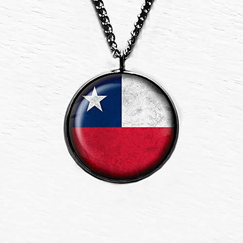 Chile Chilean Flag Chilenische Flagge Anhänger und Halskette