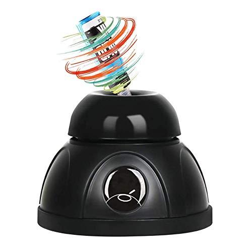Flüssiger Vortex-Mischer für Labore, Maler, Nagelstudios, Tätowierer und Bastler, Touch-Funktion, geeignet für Zentrifugenröhrchen mit bis zu 50 ml Mini-Shaker (Color : Black)