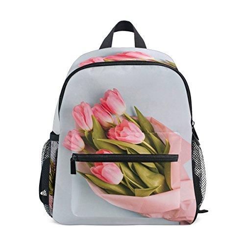 ISAOA Junge 3D Bukett von Rosen Kinder Rucksäcke Kindergarten Vorschule Kleinkind jungen/Mädchen Schultasche niedlich Schultaschen