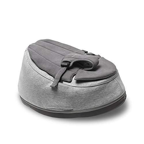 Doomoo – Seat'n Swing Grey Multifunktionale Babywippe und Sitzsack für Neugeborene und Kinder – Evolutive Wiege mit Schaukelfunktion – Füllung mit EPS-Mikorperlen mit Toxproof Zertifikat