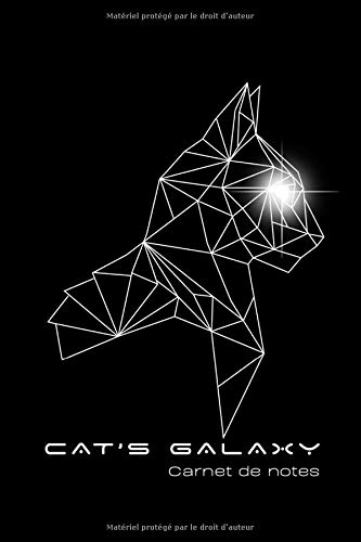 Carnet de notes pour les passionnés de chat - Cat's Galaxy: Bloc-note noir et blanc graphique space3 de chat