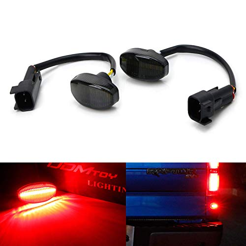 iJDMTOY Smoked Lens Red Full LED Below Taillight Rear Side Marker Light Kit Compatible With 2010-14 Ford Raptor, Powered by 12-SMD LED, Replace OEM Back Sidemarker Lamps