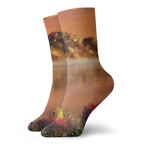 OUYouDeFangA Art Beauty of Nature - Calcetines Cortos de algodón para Adultos