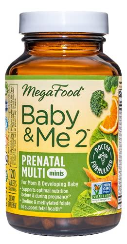 MegaFood Baby & Me 2 Prenatal Multi Minis - Prenatal Vitamins for...