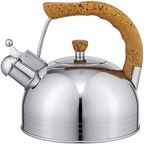 Bouilloire induction Bouilloire 304 acier inoxydable de 2,5 litres bouilloire épaisse sifflet de bouilloire à induction cuisinière à induction de gaz de sifflet de sifflet de la bouilloire grande capa