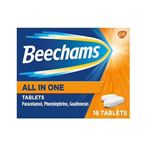 Beechams Cold & Flu Tablets, Pain, Cough & Congestion Relief Medicine with...