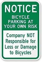 ホームパブバーデコ壁の装飾ポスター、あなた自身のリスクのある会社の自転車駐車場はBに署名しないことに注意してください、ビールパブホームヴィンテージガーデンダイニングルームショップヴィンテージプラーク