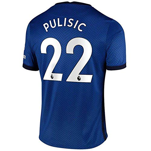 HNWCai 2020/2021 New Season Christian Pulisic #22 Mens Soccer T-Shirts Home Jersey Blue Size S