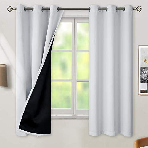 BGment Thermal Insulated 100% Blackout Curtains for Bedroom with Black Liner, Double Layer Full Room...