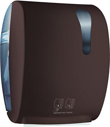 Mar Plast A8752RMA elektrische rekenmachine roller handdoek, softbruin touch/doorzichtig, 405 x 224 x 320mm