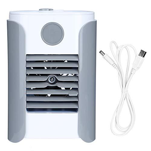 Shipenophy Ventilatore di Raffreddamento Domestico Portatile Umidificazione Spray Raffreddatore d'Aria Mini Ventilatore Condizionatore Freddo Domestico Ufficio Dormitorio Ricarica USB Grigio