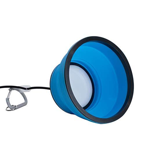 Vorzeltbeleuchtung LED Leuchte Hängeleuchte 45 LED Lampe Deckenlampe Faltbar Markisenleuchte Campinglampe Zeltlampe Camping Zubehör Vorzeltlampe Zelt Leuchte Vorzelt Beleuchtung Blau Silikon Licht