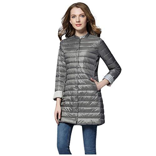 Damen Winterjacke Coat ☆Elecenty☆ Wasserabweisende Winterjacke für Damen Mittellang Mid Jacket Übergangsjacke Softdaunenjacke Winter Daunenmantel Frauen Federleichte
