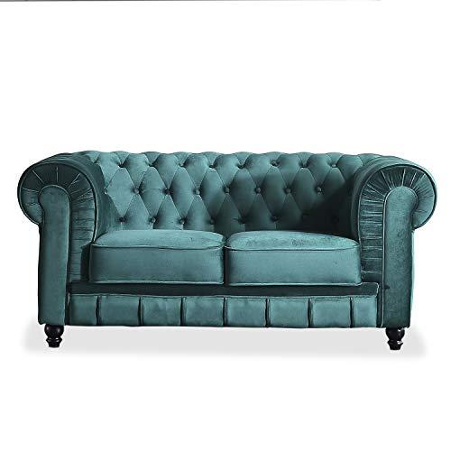Chesterfield, Sofa de Dos plazas, Sillon Descanso, 2 Persona
