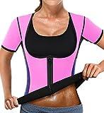 NonEcho Women Sauna Body Shaper Sweat Suit Sleeve Spa Cami Hot Neoprene Slimming Workout Vest Weight Loss Top
