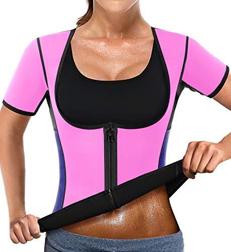 NonEcho Women Sauna Body Shaper Sweat Suit Sleeve Spa Cami Hot Neoprene Slimming Workout Vest Waist Trainer Top